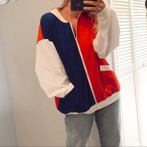Vintage Red White and Blue Light Jacket